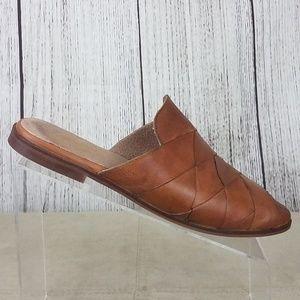 Seychelles Survival Brown Leather Slide Mules Sz 8